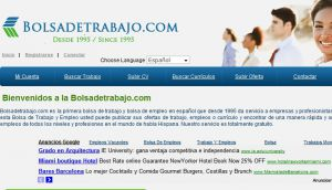 Official website : http://www.bolsadetrabajo.com
