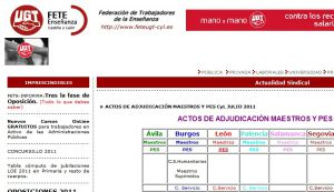 Official website : http://www.feteugt-cyl.es