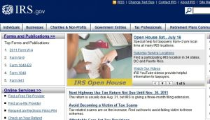 Official website : http://www.irs.gov