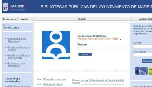 Site Officiel : Ayuntamiento de Madrid - Bibliotecas