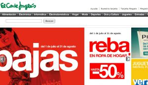 Official website : http://www.elcorteingles.es