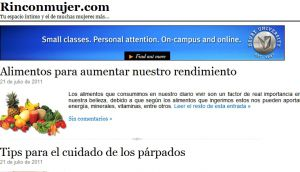 Official website : http://www.rinconmujer.com