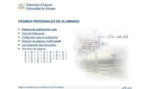 Official website : http://www.alu.ua.es